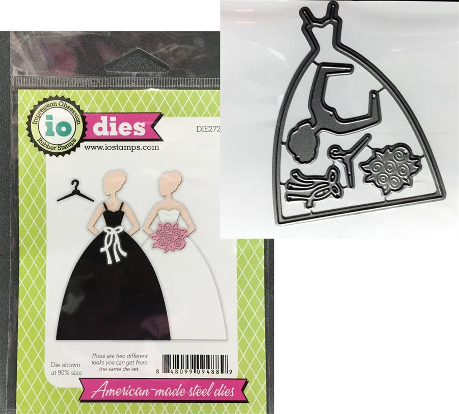 GOWN Die Set by IMPRESSION OBSESSION DIE272-K - Inspiration Station Scrapbook Store & Retreat