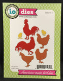 CHICKENS & ROOSTERS Die Cut Set by IMPRESSION OBSESSION DIE273-Z - Inspiration Station Scrapbook Store & Retreat