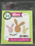 EGG BUNNY TRIO Metal Die Cut Set by Impression Obsession DIE277-E - Inspiration Station Scrapbook Store & Retreat