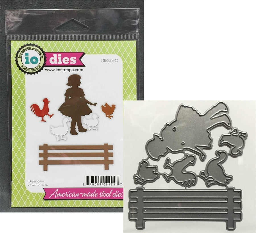 FARM GIRL Die Cut Set by IMPRESSION OBSESSION DIE279-O - Inspiration Station Scrapbook Store & Retreat