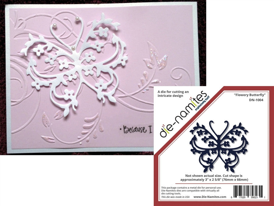 Flowery Butterfly Metal Die by die-namites - Inspiration Station Scrapbook Store & Retreat