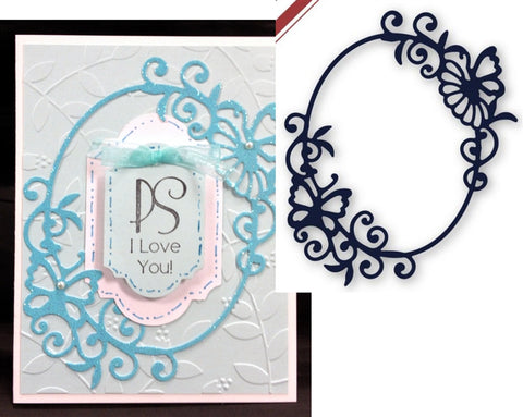 Butterfly Frame Metal Die by die-namites - Inspiration Station Scrapbook Store & Retreat