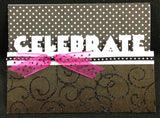 CELEBRATE Express Edges Metal Die by Die-Versions DVE-001 - Inspiration Station Scrapbook Store & Retreat