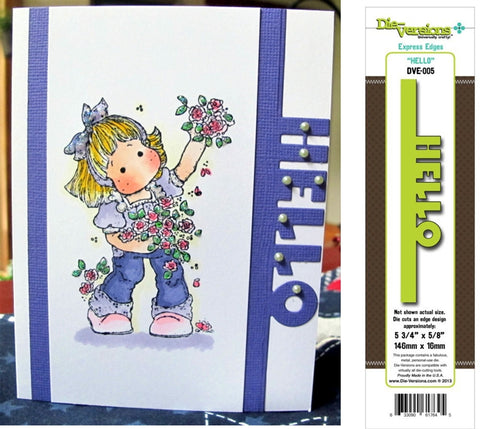 HELLO Express Edges Metal Die by Die-Versions DVE-005 - Inspiration Station Scrapbook Store & Retreat
