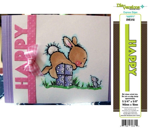 Happy Express Edges Metal Die by Die-Versions DVE-012 - Inspiration Station Scrapbook Store & Retreat