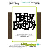 HAPPY BIRTHDAY die DVJ-081 by Die-Versions - Inspiration Station Scrapbook Store & Retreat