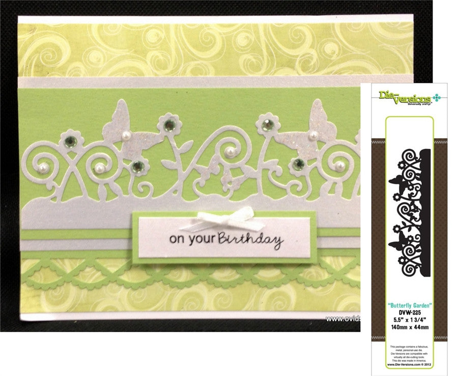 Butterfly Garden Metal Die Cut by Die-Versions - Inspiration Station Scrapbook Store & Retreat