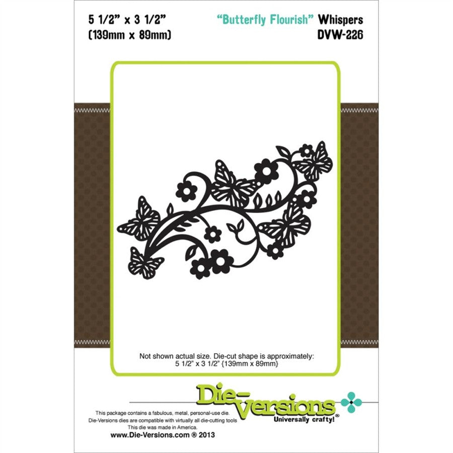 Butterfly Flourish Metal Die by Die-Versions - Inspiration Station Scrapbook Store & Retreat