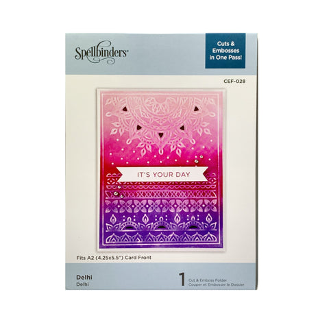 Delhi Spellbinders Cut & Emboss Embossing Folder CEF-028 - Inspiration Station Scrapbook Store & Retreat
