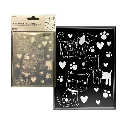 Dogs Embossing Folder By Darice Embossing Folders 30041360 - Inspiration Station Scrapbook Store & Retreat