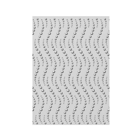 Dotty Waves 3D Embossing Folder by Creative Expressions Folders EF3D-026