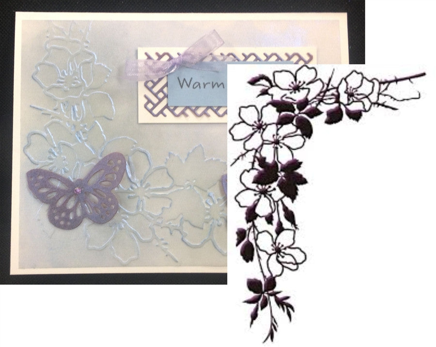 GARDEN SPRAY Embossing Folder by Ecstasy Crafts Inc. - Inspiration Station Scrapbook Store & Retreat