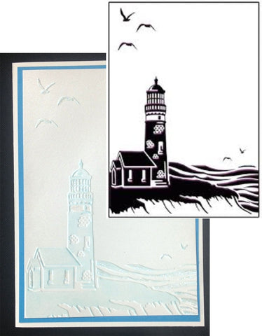COASTAL VIEW Embossing Folder by Ecstasy Crafts Inc. - Inspiration Station Scrapbook Store & Retreat