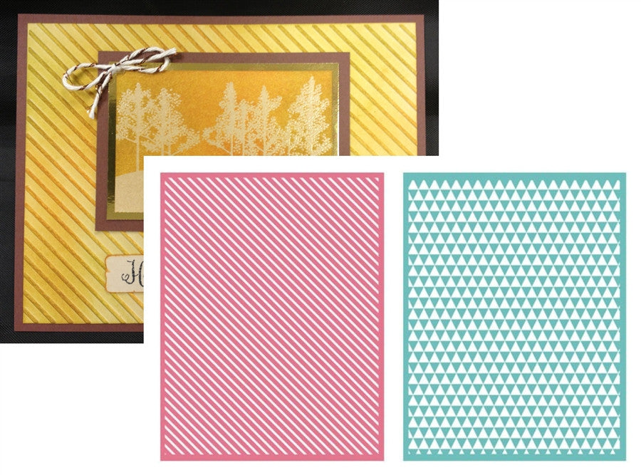 LINEAR Embossing Folder Set 2 PK by Lifestyle Crafts LEF3207 - Inspiration Station Scrapbook Store & Retreat