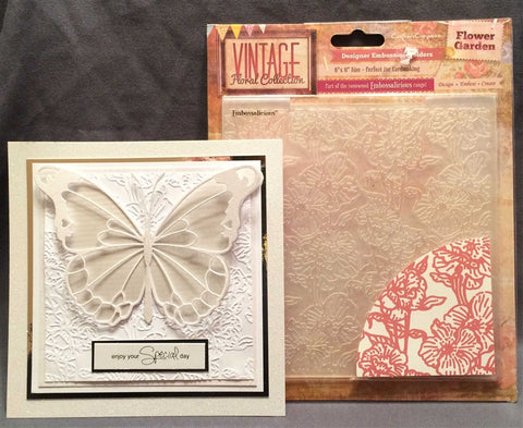 FLOWER GARDEN by CRAFTER'S COMPANION EF6-FLOG 6 x 6 Embossing Folder - Inspiration Station Scrapbook Store & Retreat
