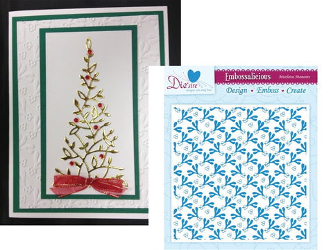 MISTLETOE MOMENTS by Die'sire Embossing Folder for Crafter's Companion - Inspiration Station Scrapbook Store & Retreat