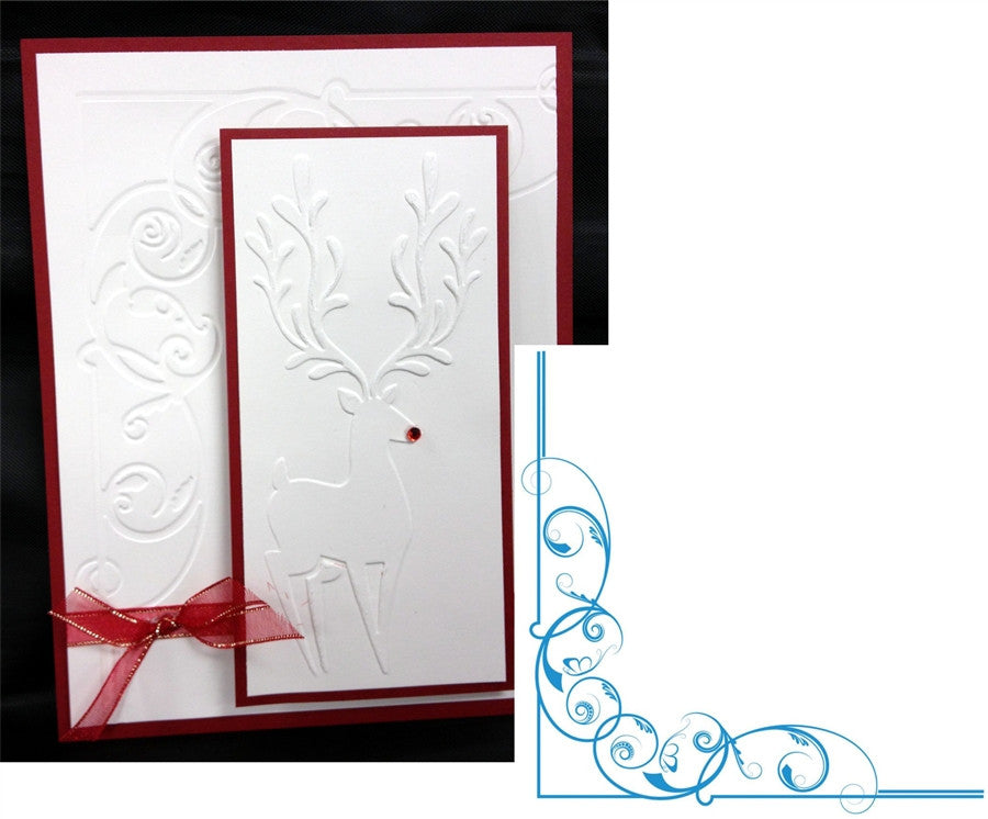 REGAL CORNER 6x6 Embossing Folder for Crafter's Companion - Inspiration Station Scrapbook Store & Retreat