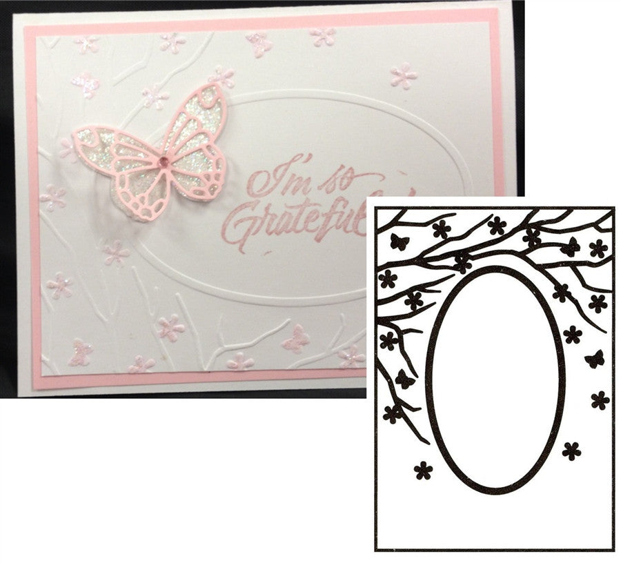 Spring Is In The Air Oval Frame Embossing Folder by Nellie Snellen - Inspiration Station Scrapbook Store & Retreat