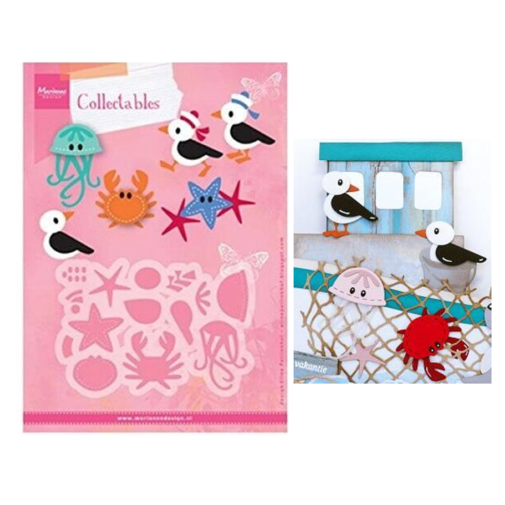 Eline's Seagull & Friends Metal Die Cut Set by Marianne Design Dies COL1433 - Inspiration Station Scrapbook Store & Retreat