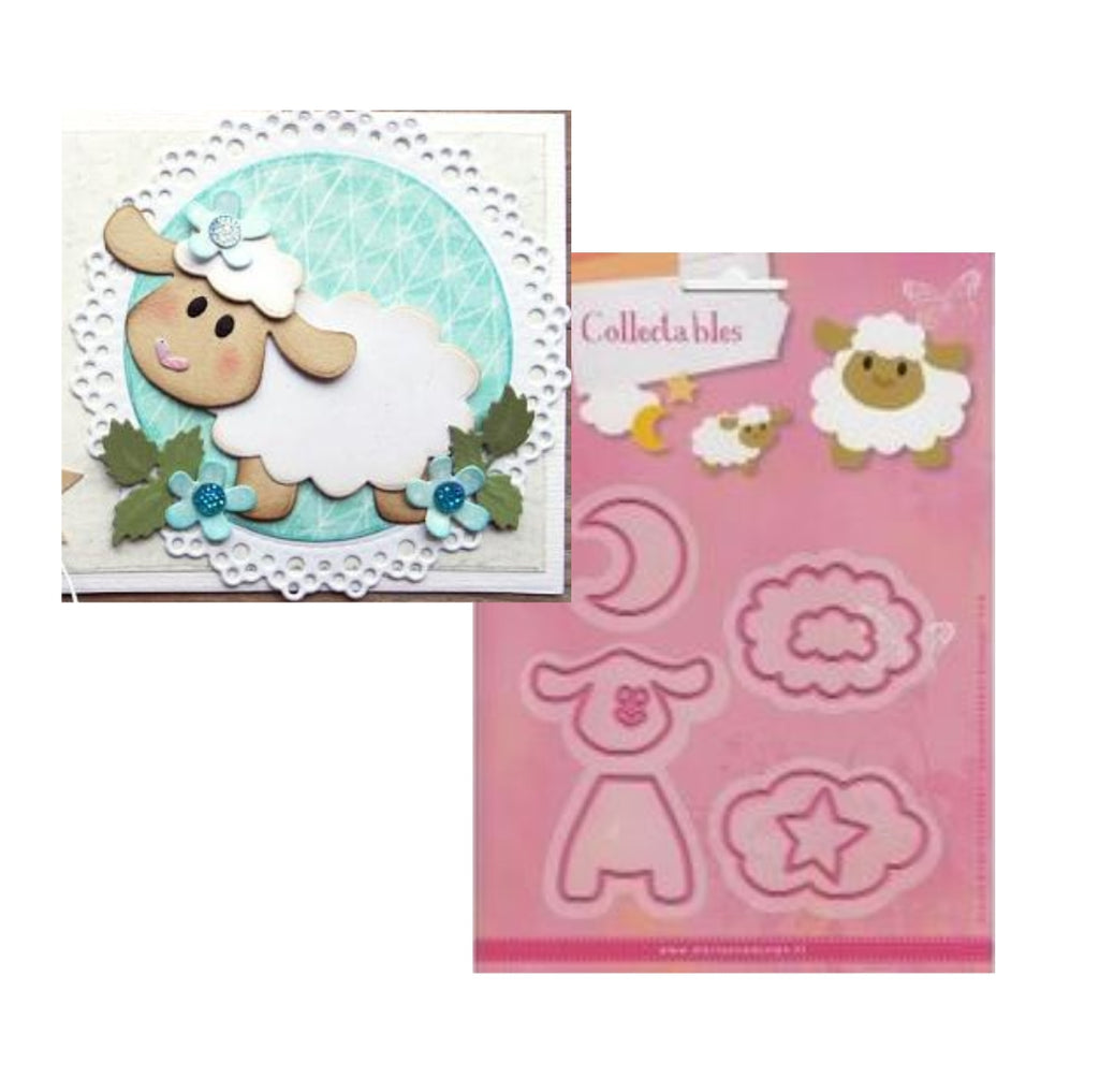 Eline's Sheep Metal Die Cut Set by Marianne Design Dies COL1385 - Inspiration Station Scrapbook Store & Retreat