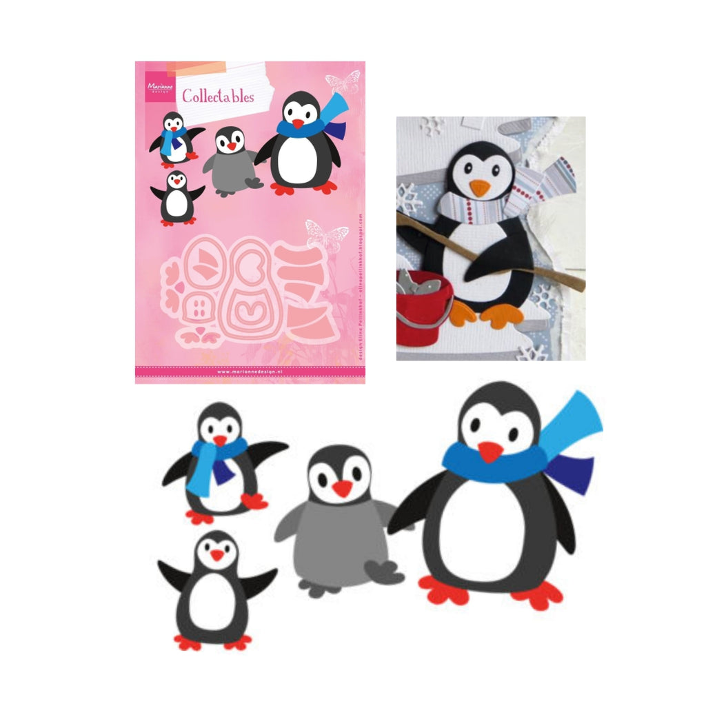 Eline's Penguin Metal Die Cut Set by Marianne Design Dies COL1416 - Inspiration Station Scrapbook Store & Retreat