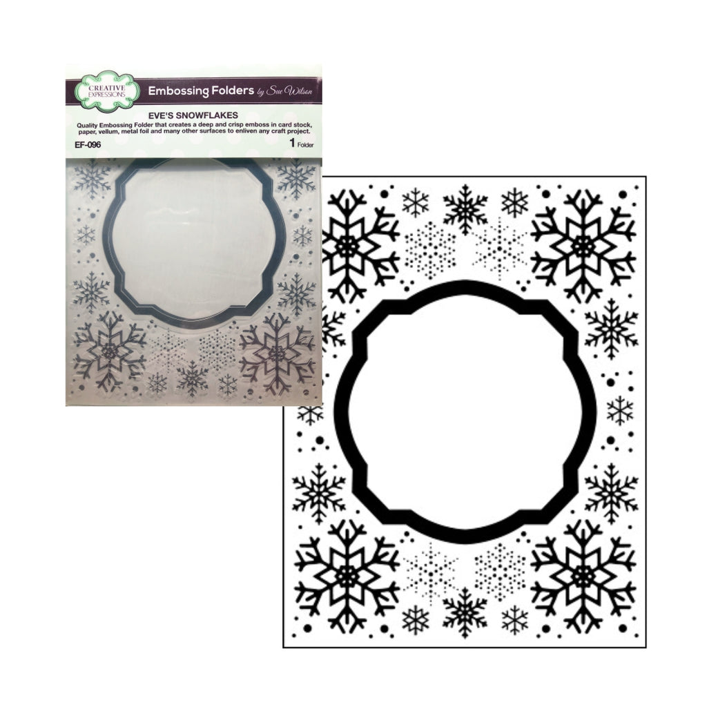 Eve's Snowflakes Embossing Folder by Creative Expressions Folders EF-096 - Inspiration Station Scrapbook Store & Retreat