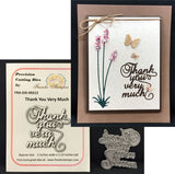 THANK YOU VERY MUCH Die-cut by FRANTIC STAMPER FRA-DIE-09213 - Inspiration Station Scrapbook Store & Retreat