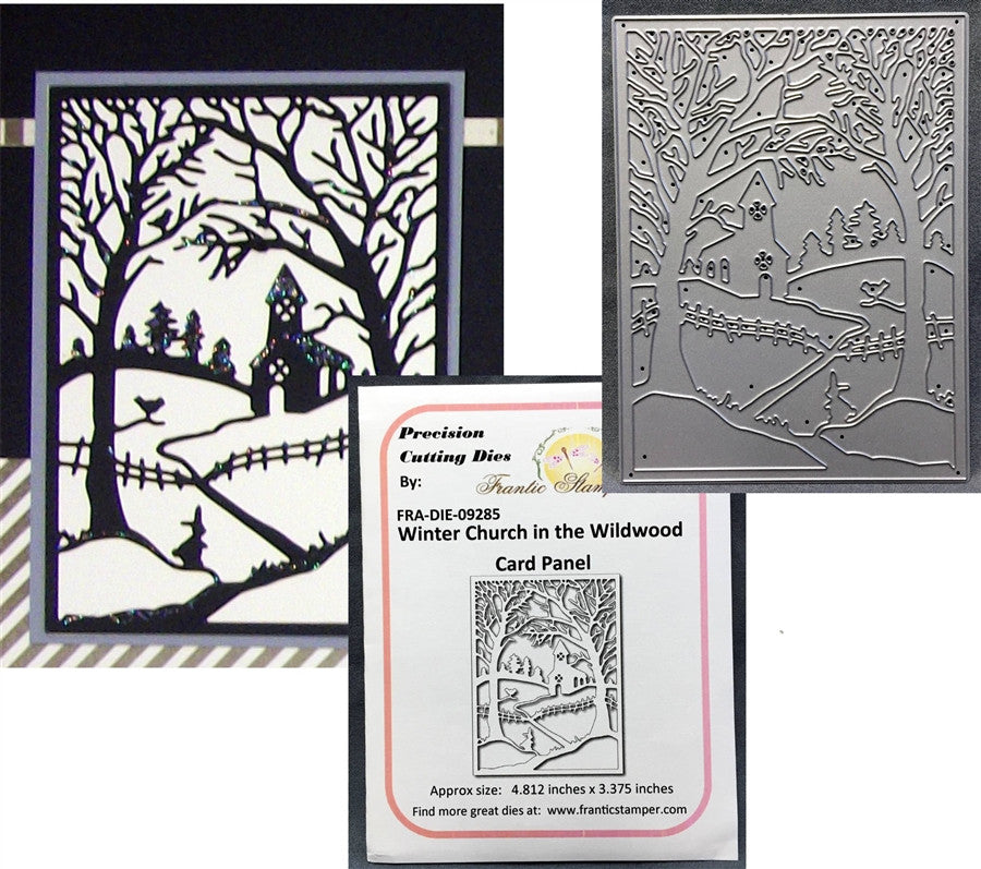 WINTER CHURCH IN THE WILDWOOD die by FRANTIC STAMPER FRA-DIE-09285 - Inspiration Station Scrapbook Store & Retreat