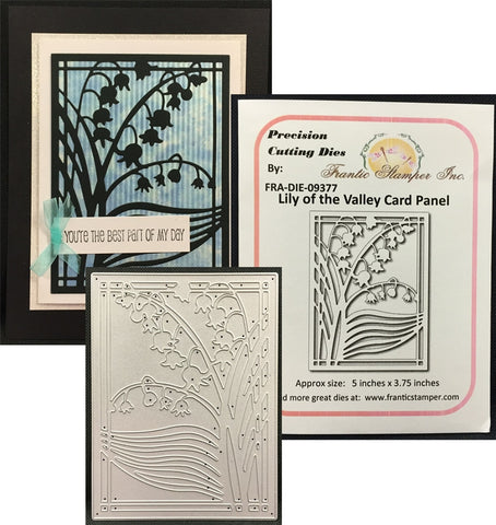 LILY OF THE VALLEY CARD PANEL Steel die-cut by FRANTIC STAMPER FRA-DIE-09377 - Inspiration Station Scrapbook Store & Retreat