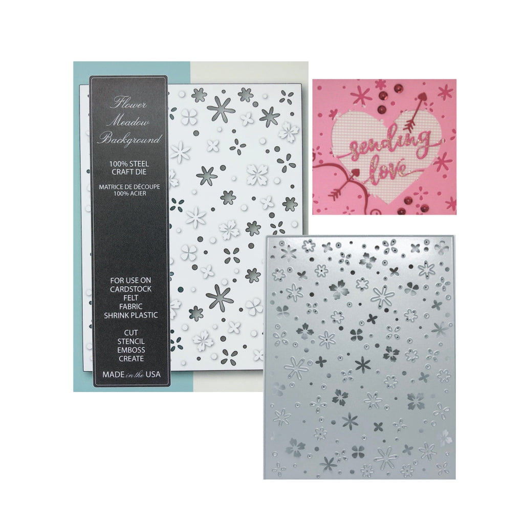 Flower Meadow Background Die by Memory Box Dies 99415 - Inspiration Station Scrapbook Store & Retreat
