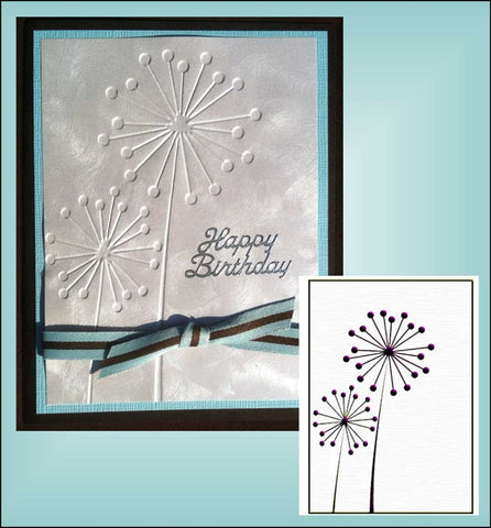 Ball Flowers embossing folder by Nellie Snellen HSF001 - Inspiration Station Scrapbook Store & Retreat