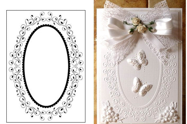 Oval Frame Embossing Folder by Nellie Snellen - Inspiration Station Scrapbook Store & Retreat