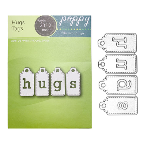 Hugs Tags Die Set by Poppystamps Dies 2312 - Inspiration Station Scrapbook Store & Retreat