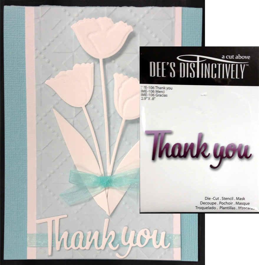 Thank You Metal Die Cut by Dee's Distinctively - Inspiration Station Scrapbook Store & Retreat