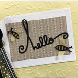 HELLO WORDS die by PAPER SMOOCHES J1D116 - Inspiration Station Scrapbook Store & Retreat