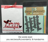 KUDOS WORDS die by PAPER SMOOCHES J3D149 - Inspiration Station Scrapbook Store & Retreat