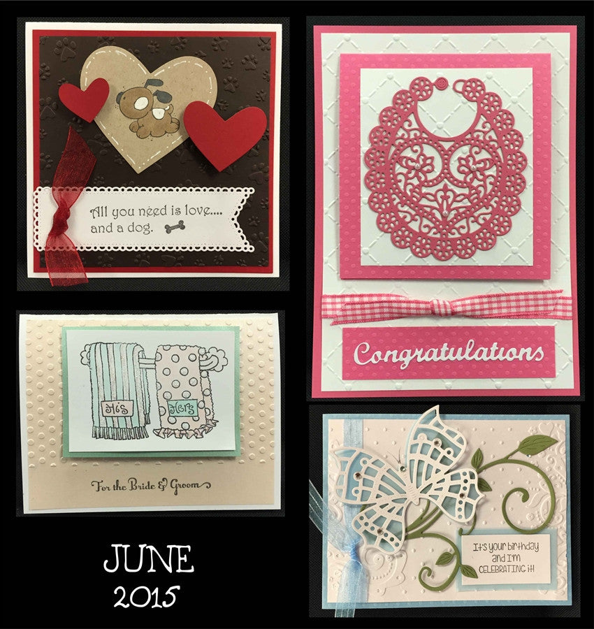 June 2015 Handmade Card Kit - Card Class to Go - Inspiration Station Scrapbook Store & Retreat