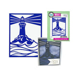 Lighthouse Frame Die Cut by Impression Obsession Dies DIE695-YY - Inspiration Station Scrapbook Store & Retreat