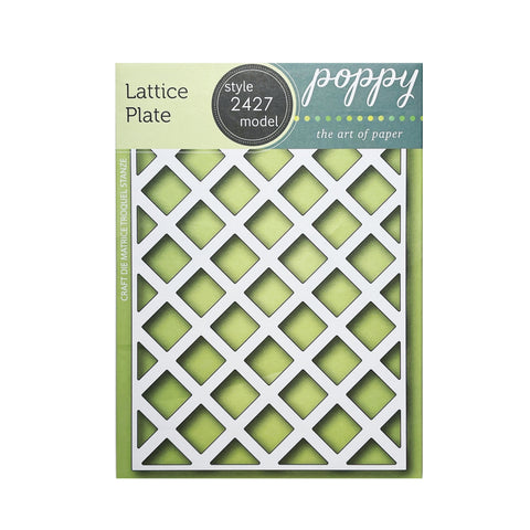 Lattice Plate metal craft die cuts by Poppystamps dies 2427
