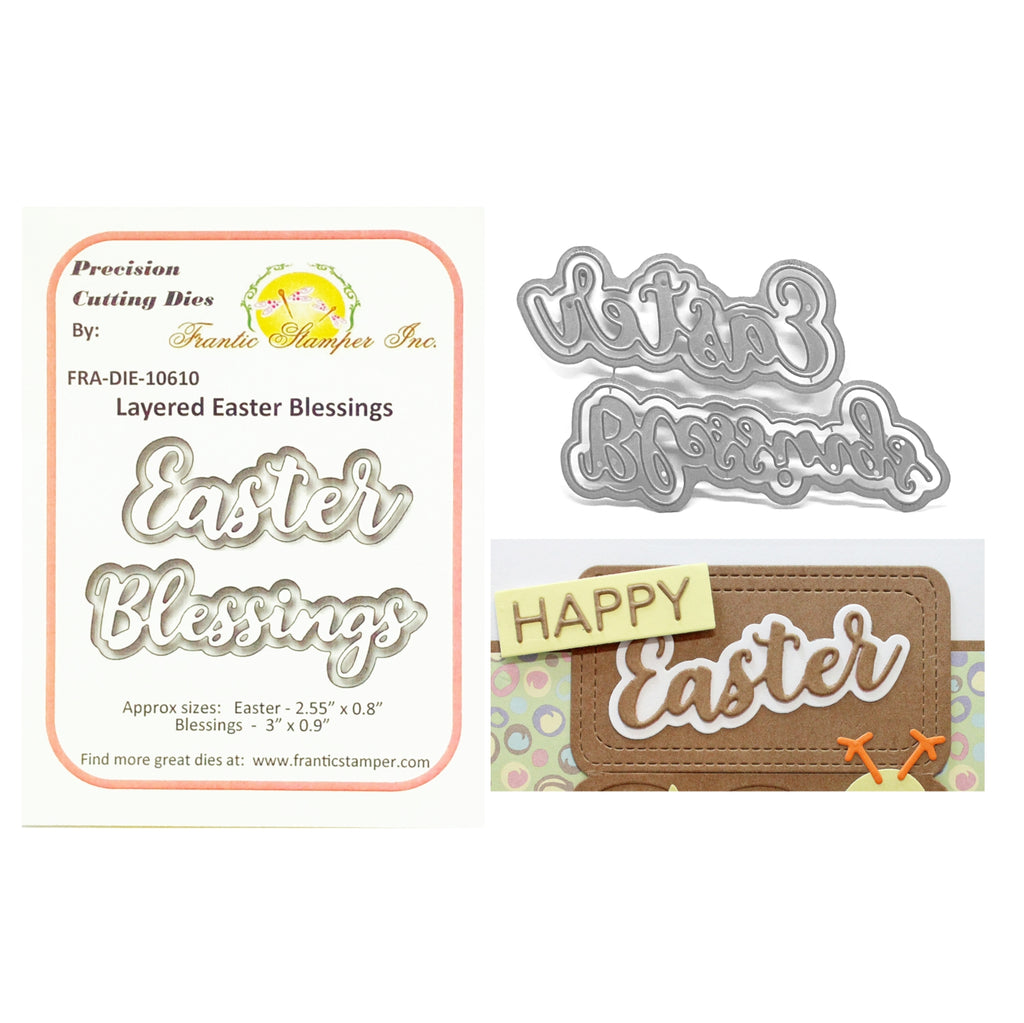 Layered Easter Blessings Metal Die Set by Frantic Stamper Dies FRA-DIE-10610 - Inspiration Station Srcapbook Store & Retreat