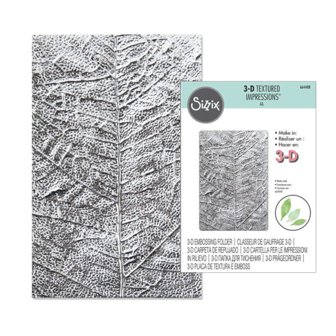 Leaf Veins Embossing Folder by Sizzix Embossing Folders 664488