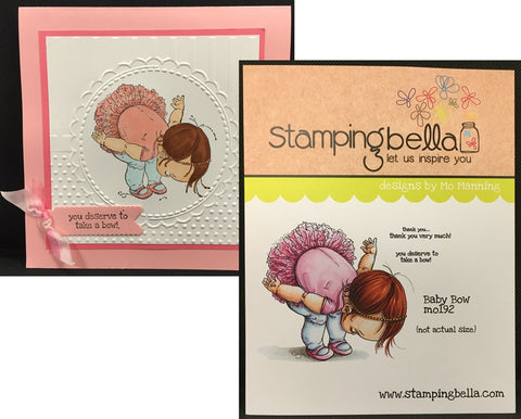 BABY BOW rubber cling stamp by STAMPING BELLA MO192 - Inspiration Station Scrapbook Store & Retreat