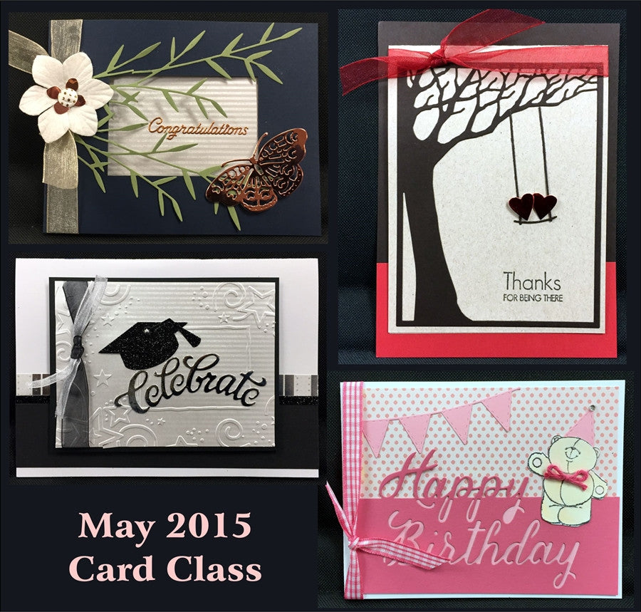 May 2015 Handmade Card Kit - Card Class to Go - Inspiration Station Scrapbook Store & Retreat