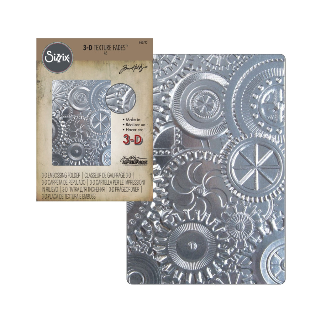 Mechanics 3-D Embossing Folder by Tim Holtz for Sizzix Embossing Folders 662715 - Inspiration Station Scrapbook Store & Retreat