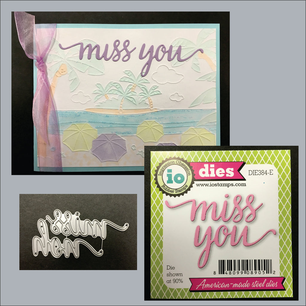 Miss You Word Die Cut by Impression Obsession DIE384-E - Inspiration Station Scrapbook Store & Retreat