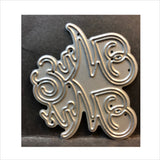 Mr. & Mrs. Script Die Cut by Impression Obsession Dies DIE617-B - Inspiration Station Scrapbook Store & Retreat
