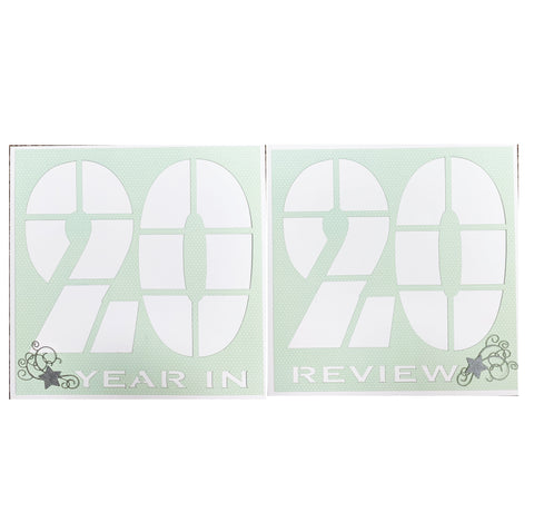 2020 Year in Review Scrapbook Page Kit Double Page Spread 12x12 Kit