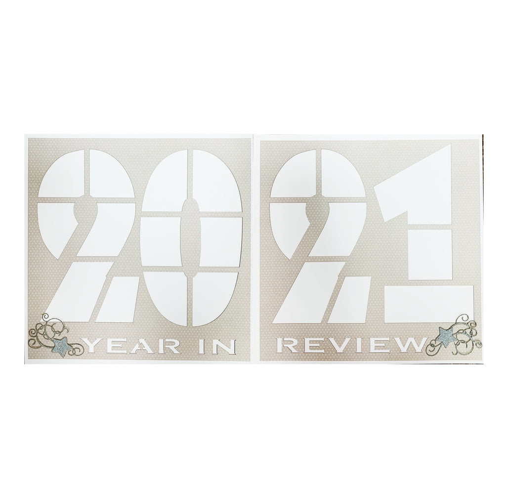 2021 Year in Review Scrapbook Page Kit Double Page Spread 12x12 Kit