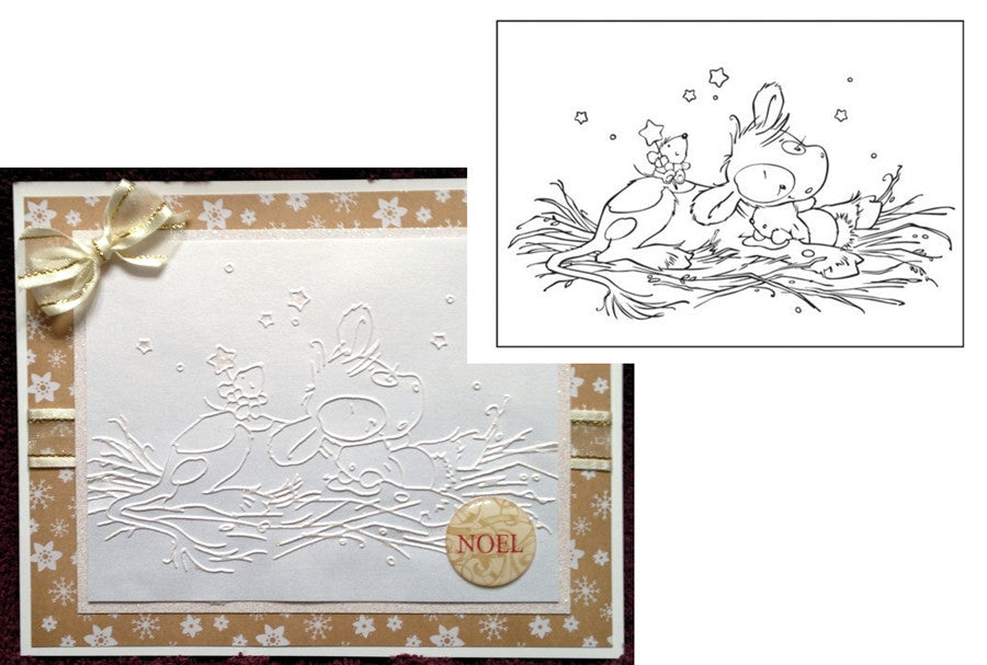 Sweet Dreams Christmas Koetie Embossing Folder by Nellie Snellen - Inspiration Station Scrapbook Store & Retreat