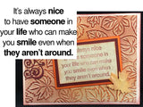 Someone To Make You Smile RWD-134 Rubber Cling Stamp By Riley and Company - Inspiration Station Scrapbook Store & Retreat